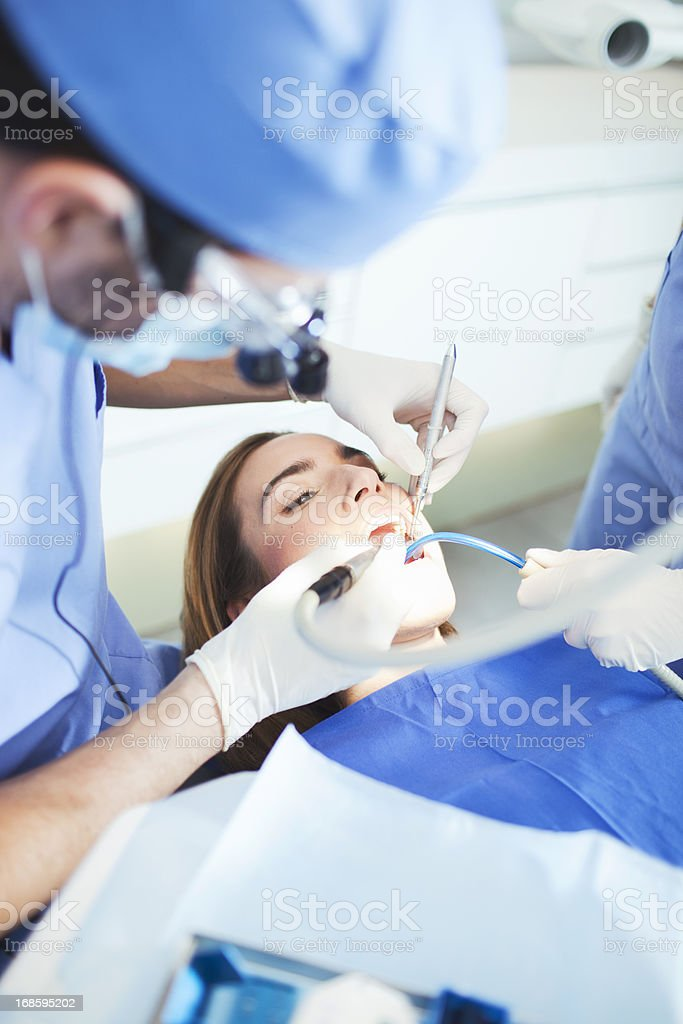 Dental heath surgery. stock photo