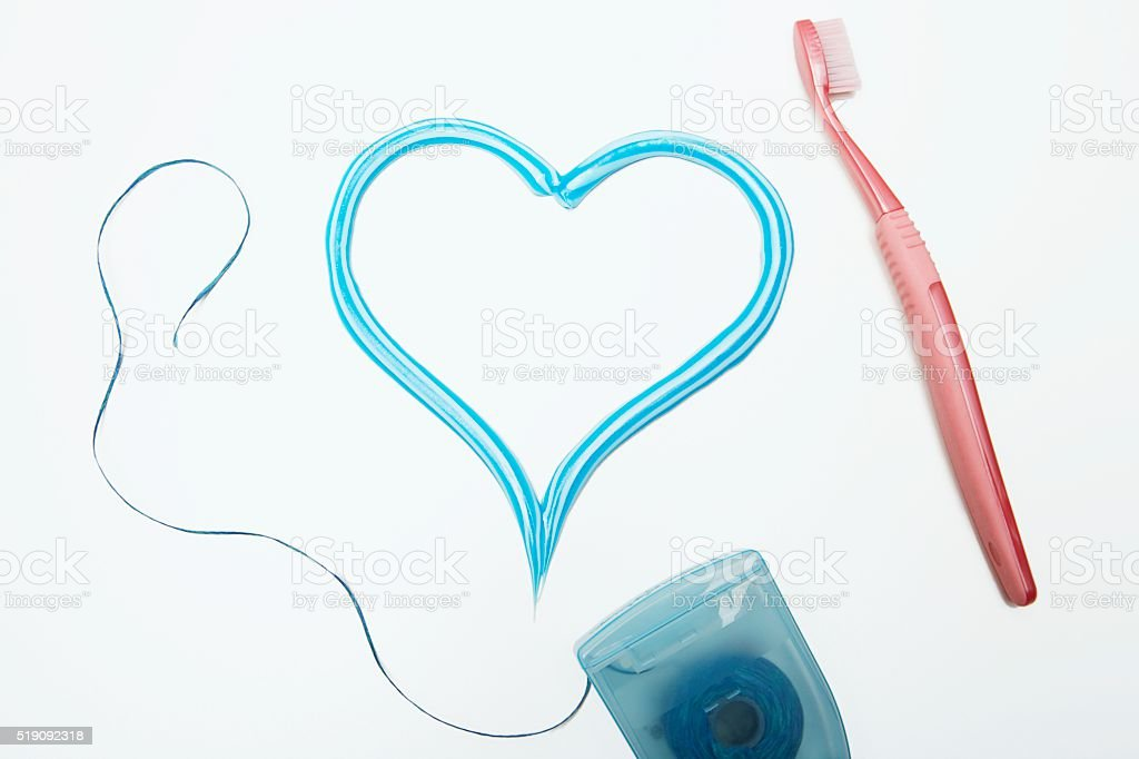 Dental hygiene articles stock photo
