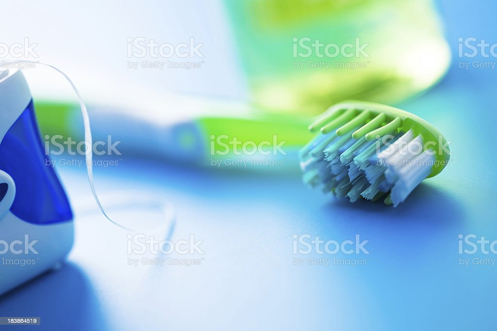 Dental hygiene stock photo