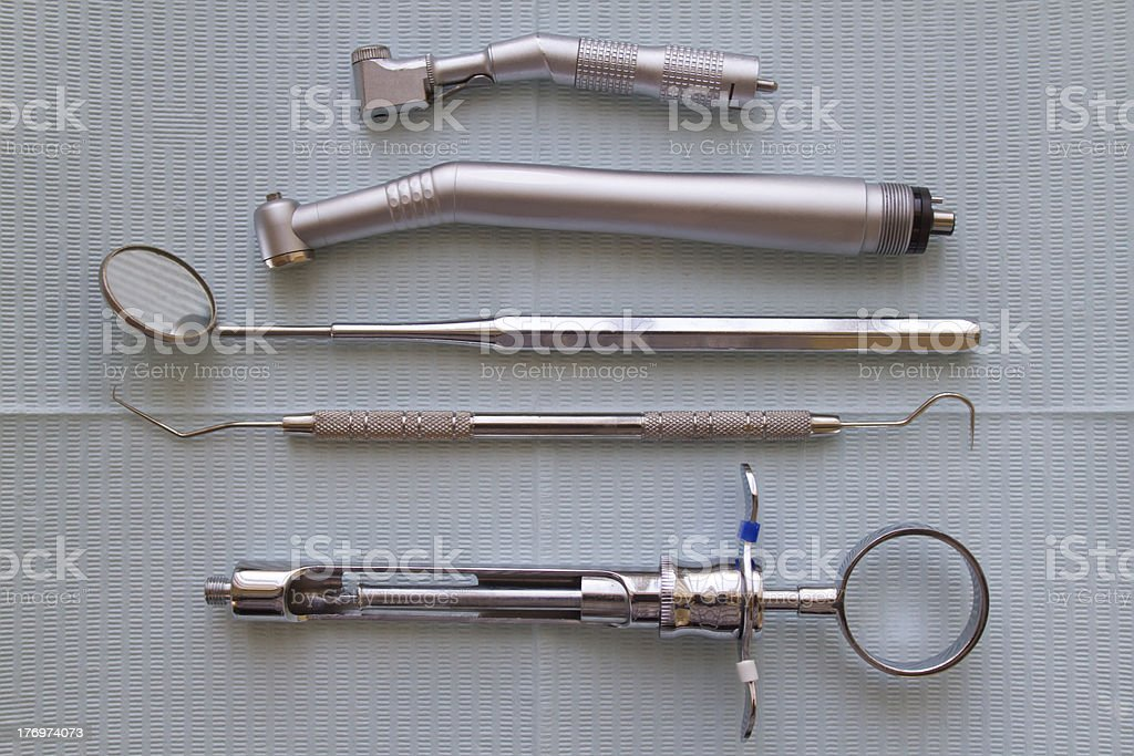 Dental Instruments royalty-free stock photo
