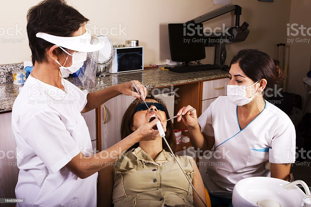 Dental Laser Theraphy stock photo