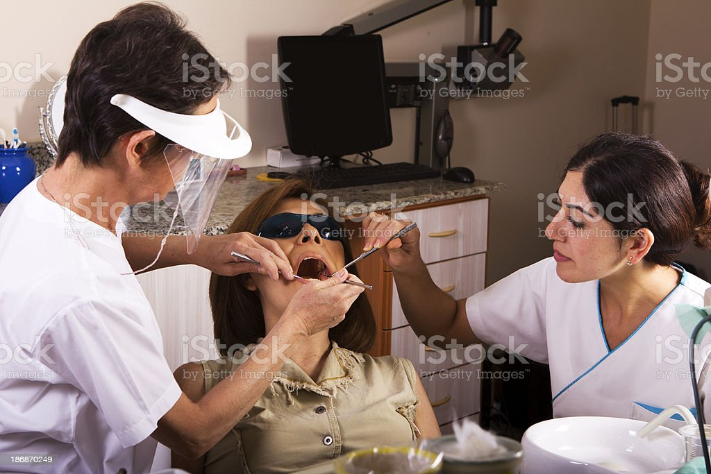 Dental Laser Theraphy royalty-free stock photo