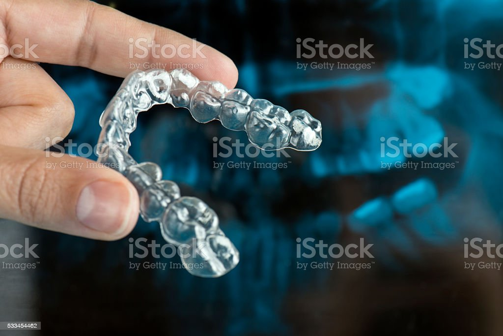 Dental Mouth Guard. stock photo