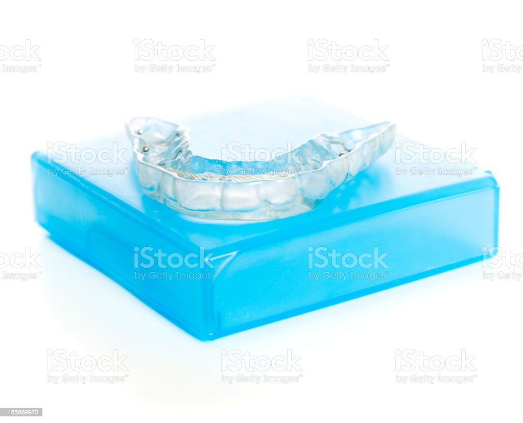 Dental Mouthguard stock photo