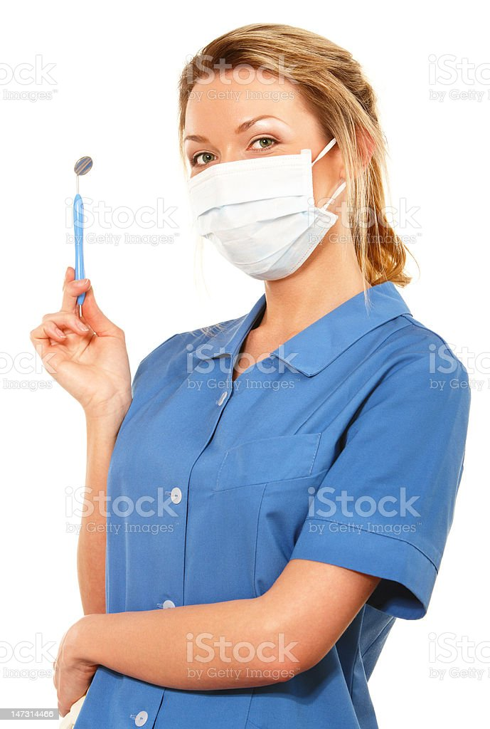 Dental nurse royalty-free stock photo