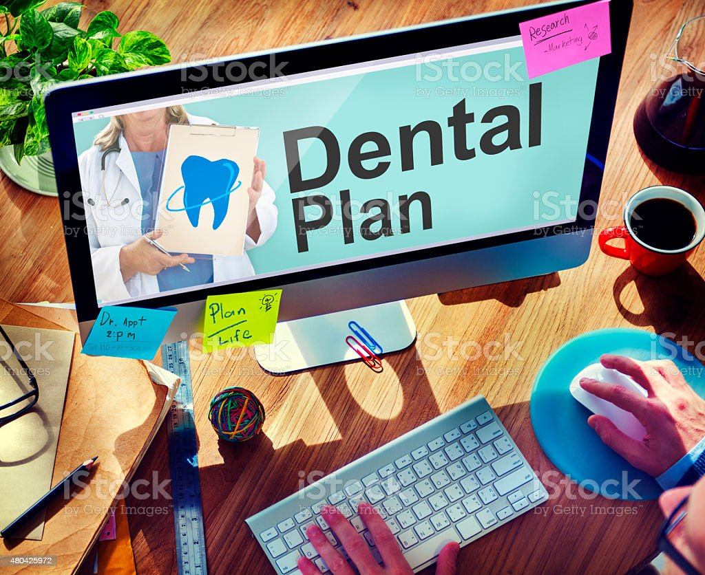 Dental Plan Benefits Dentist Medical Healthcare Hygiene Concept stock photo