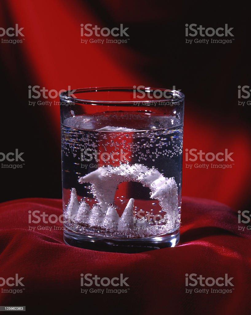 Piastra dentale foto stock royalty-free