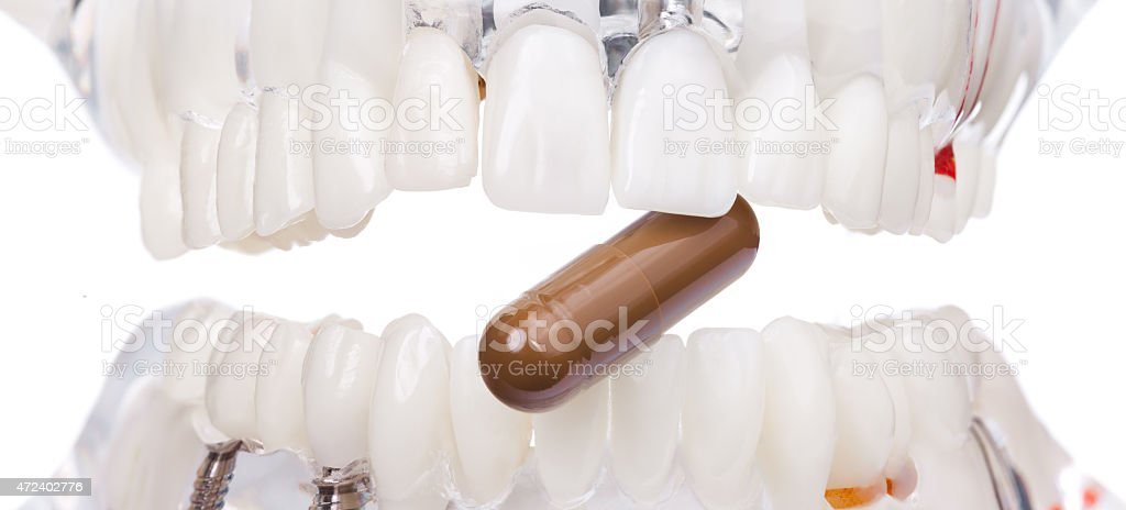 Dental Plate. stock photo