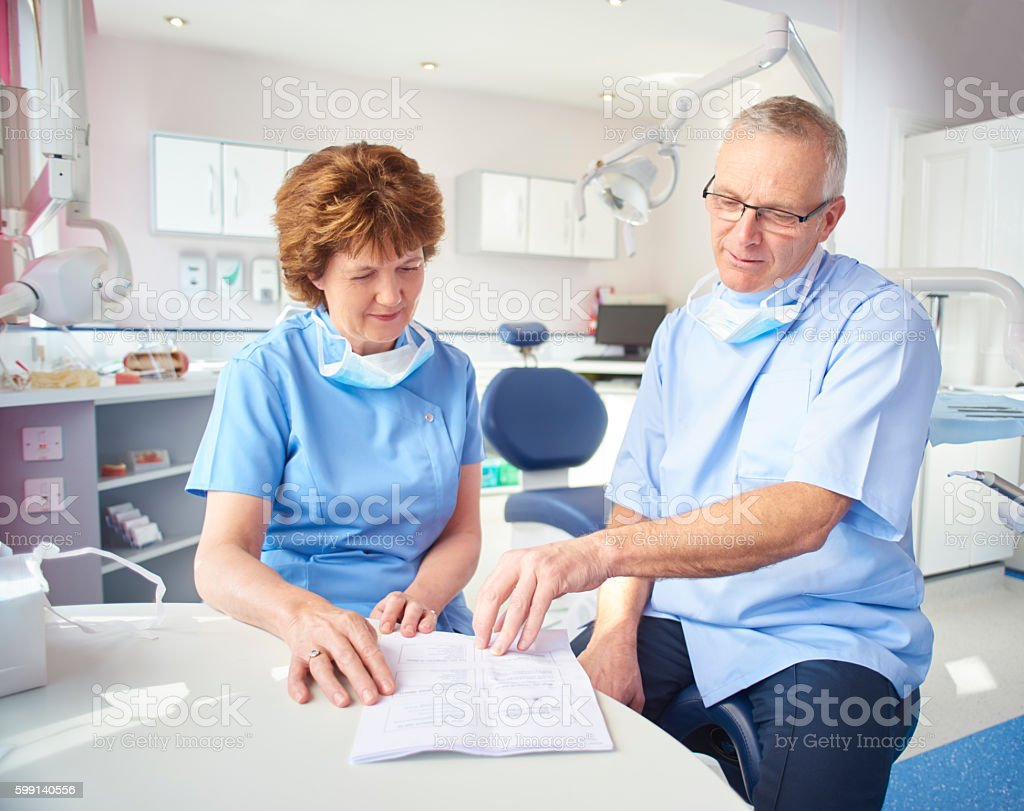 Dental practice owners stock photo