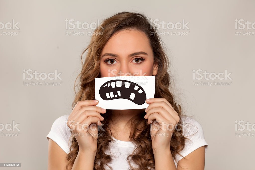 dental problem stock photo