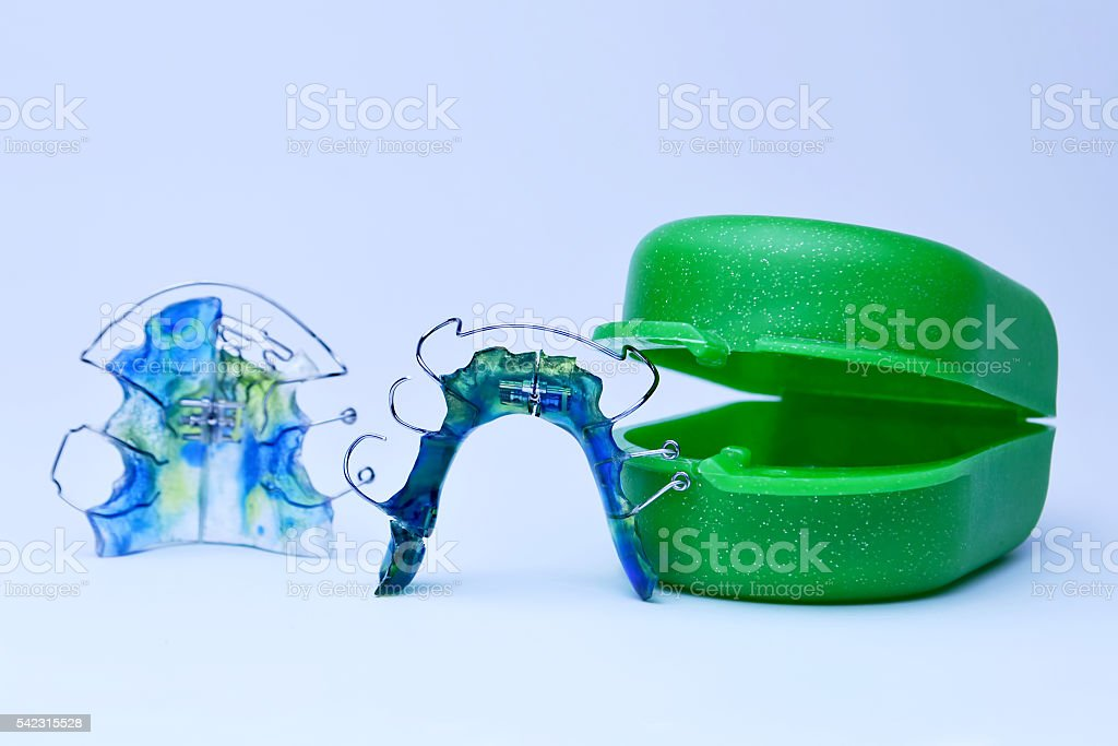 Dental retainer closeup stock photo