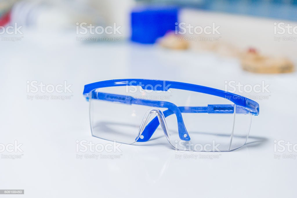 Dental safety glasses stock photo