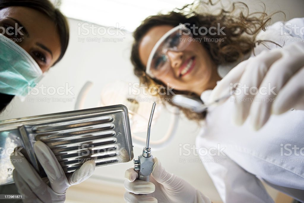 Dental teamwork royalty-free stock photo