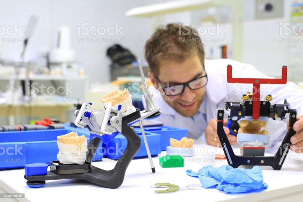 Dental technician stock photo