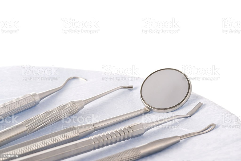 Dental Tools on White royalty-free stock photo