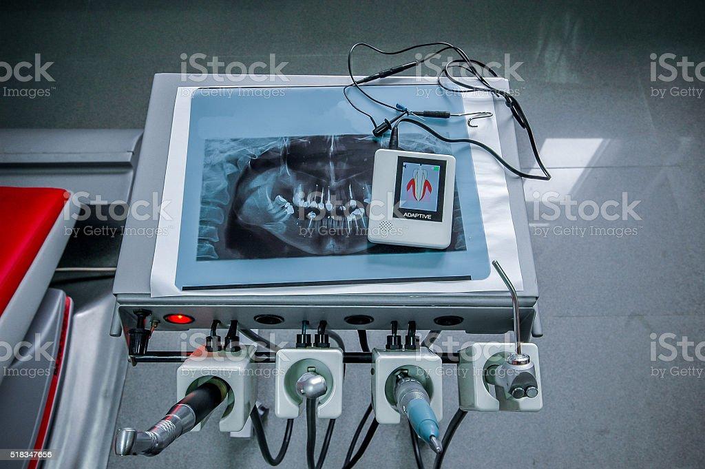 Dental tools stock photo