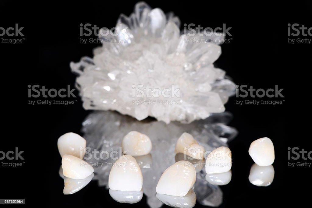 Dental Veneers with Crystal stock photo