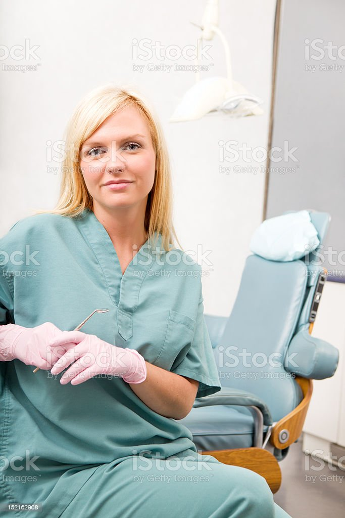 Dental Worker Portrait royalty-free stock photo