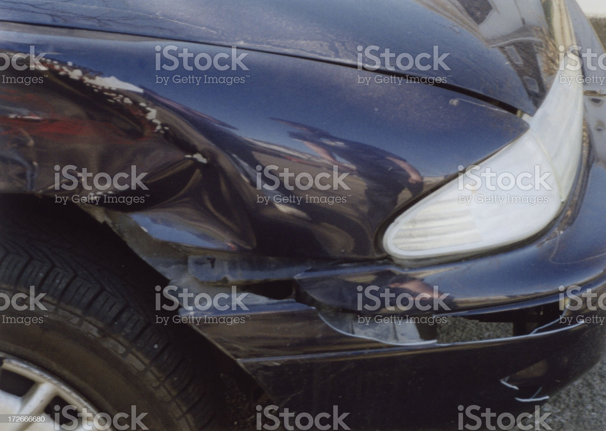 Dented Car Wing royalty-free stock photo