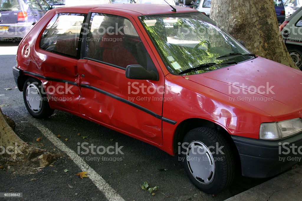 Dented French Car royalty-free stock photo