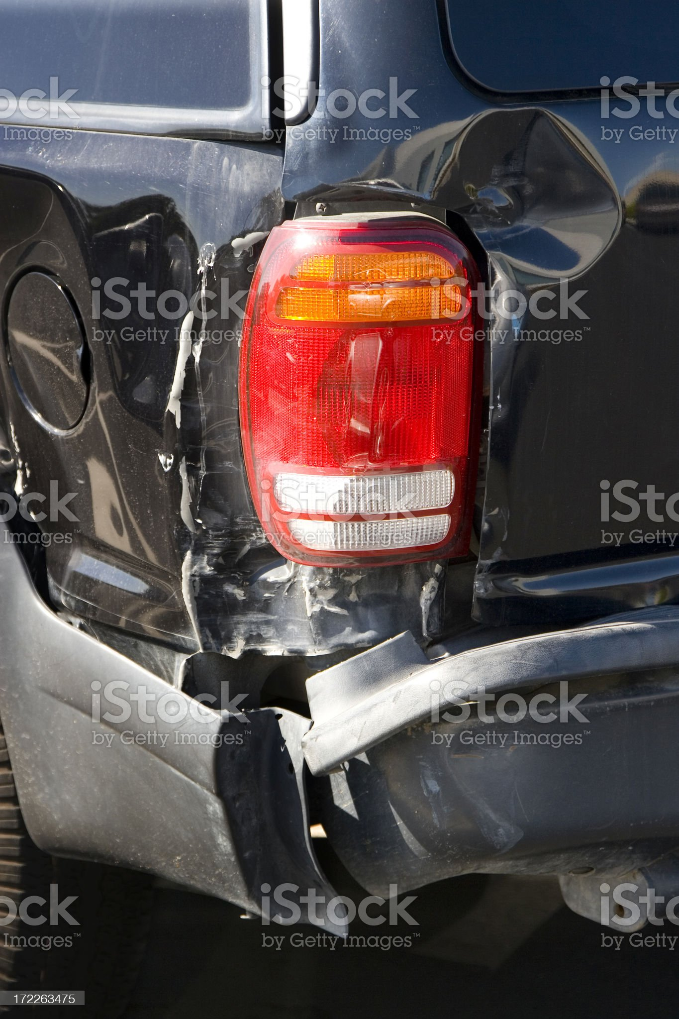 dented suv royalty-free stock photo