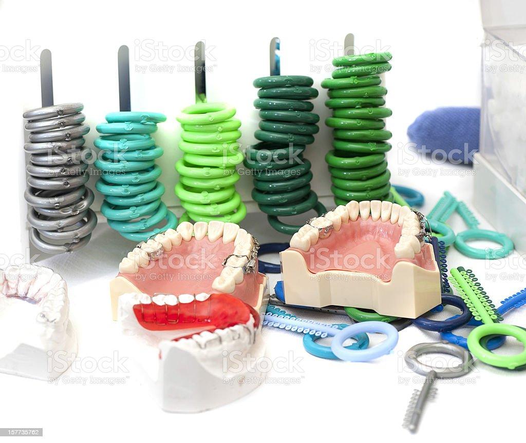 dentist and kfo orthodontist equipment stock photo