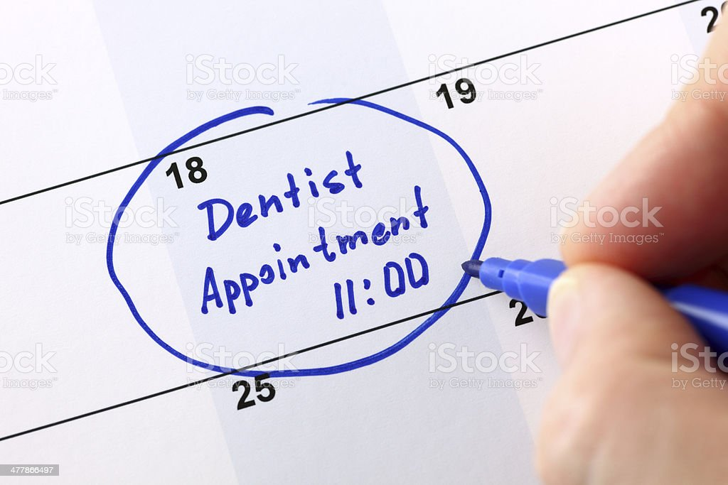 Dentist appointment royalty-free stock photo