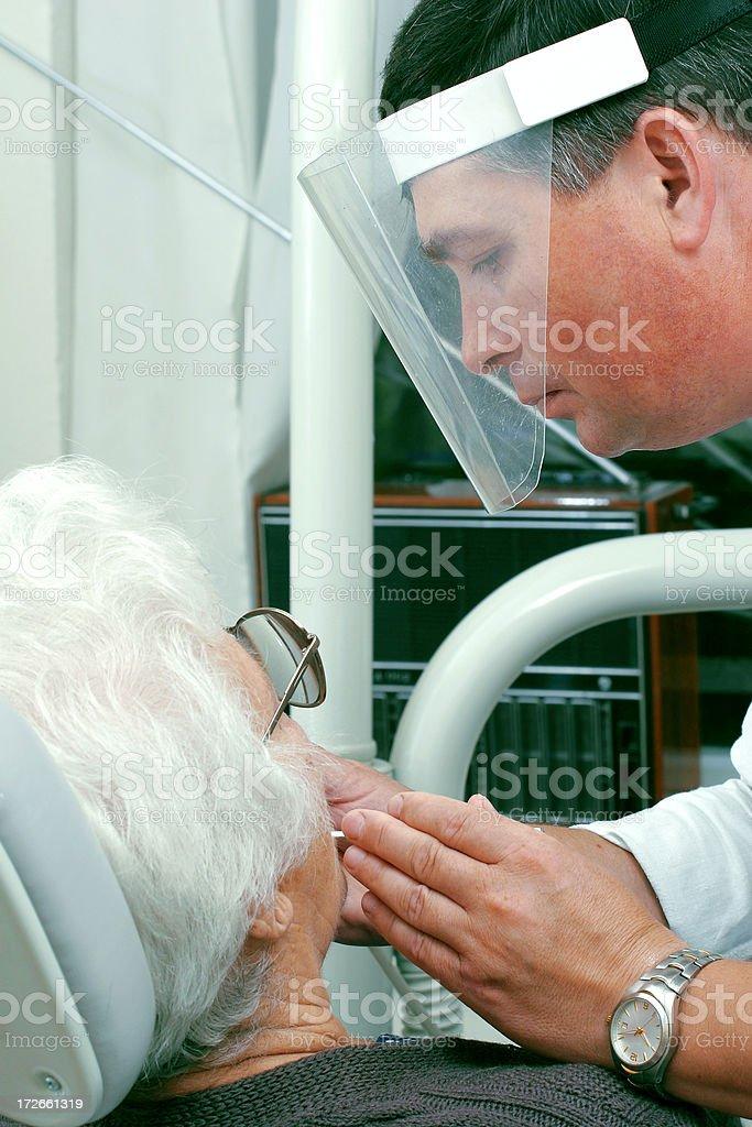 Dentist at work royalty-free stock photo