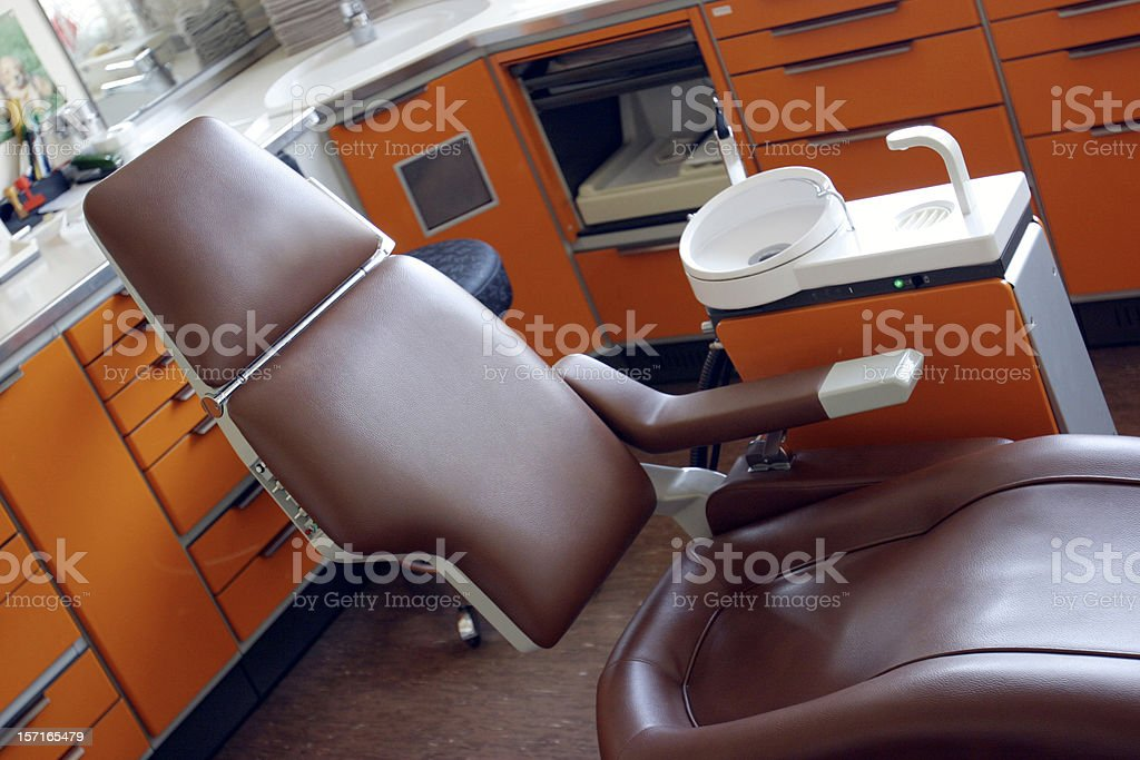 Dentist brwown leather chair royalty-free stock photo