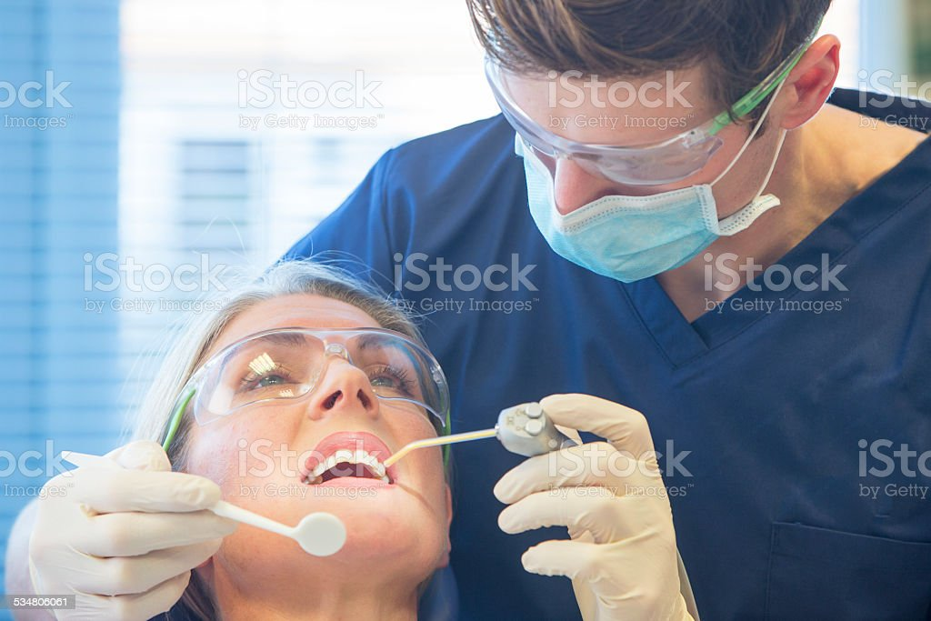Dentist Check Up stock photo