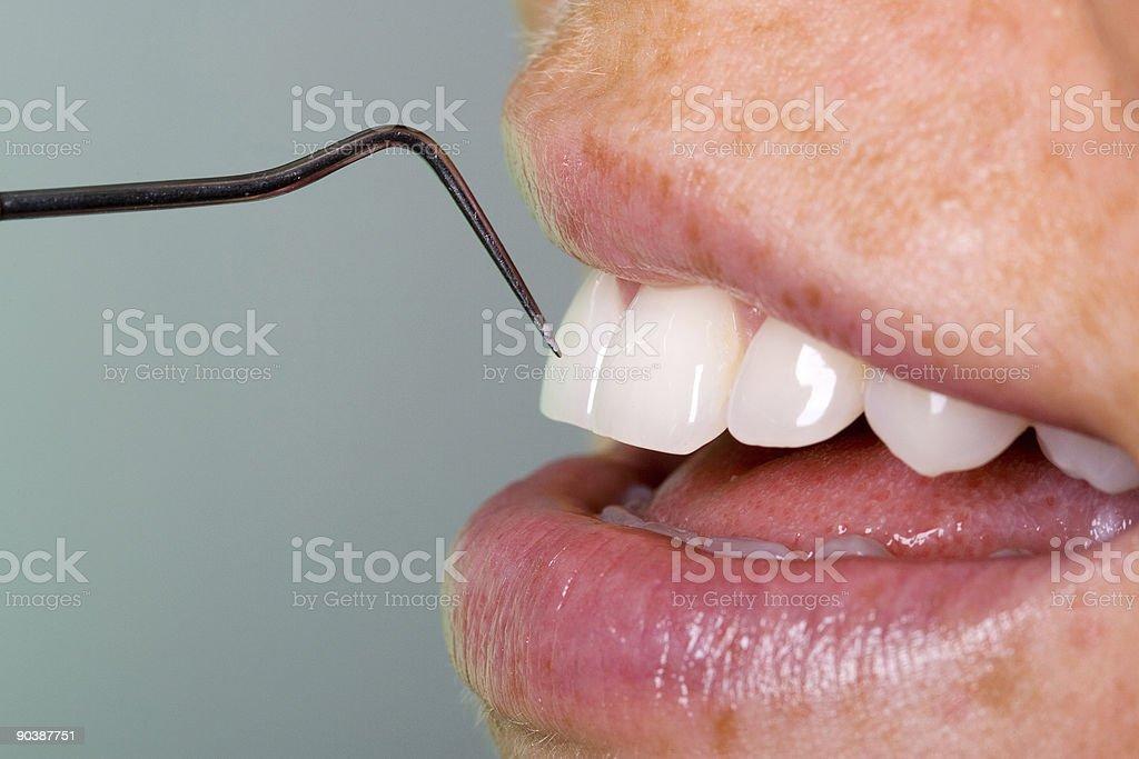 Dentist controls teeth royalty-free stock photo