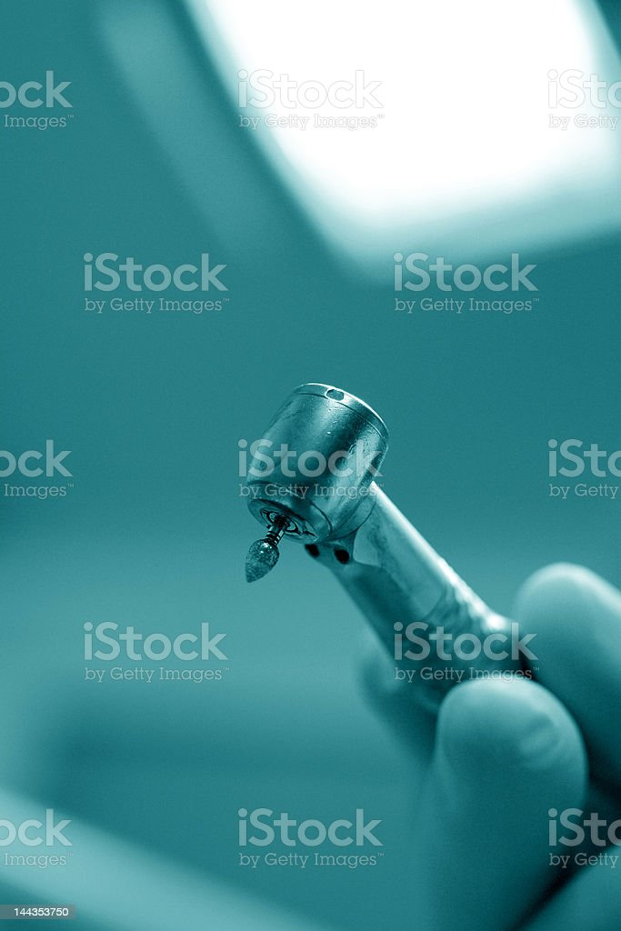 Dentist drill royalty-free stock photo