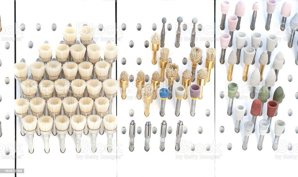 dentist equipment in rack stock photo