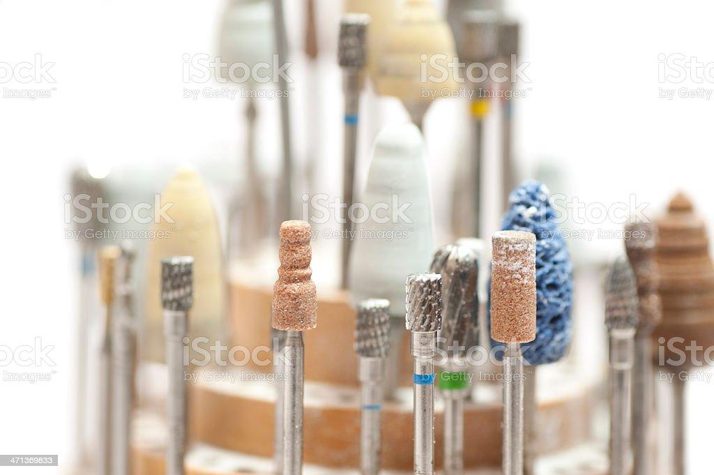 dentist equipment - Schleifköpfe stock photo