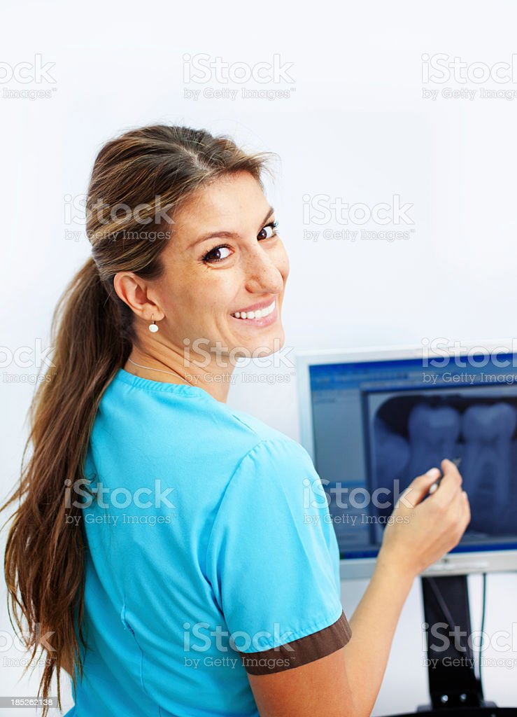 Dentist Examining X ray royalty-free stock photo