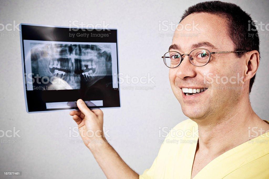 Dentist holding x-ray royalty-free stock photo