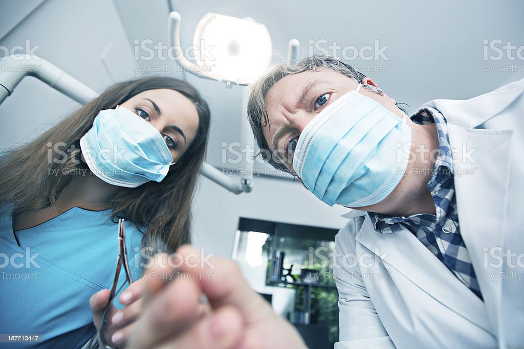Dentist job royalty-free stock photo