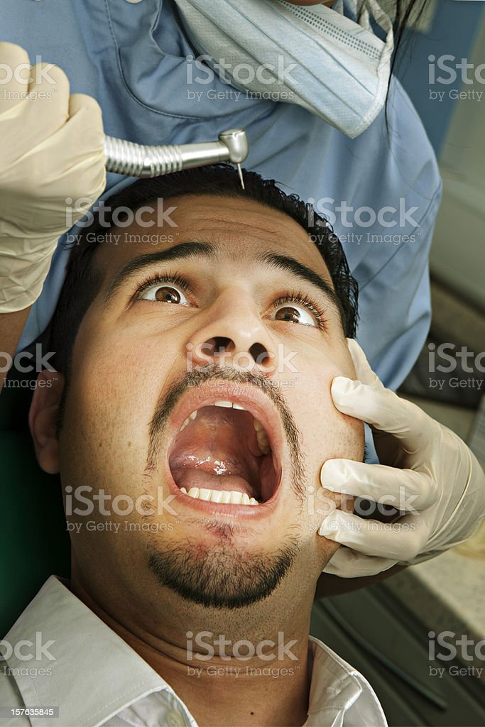 Dentist nightmare royalty-free stock photo
