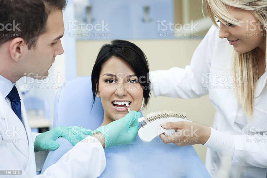 dentist palette for tooth color royalty-free stock photo