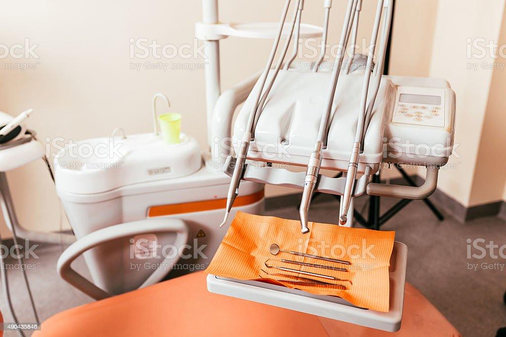 Dentist tool rack stock photo