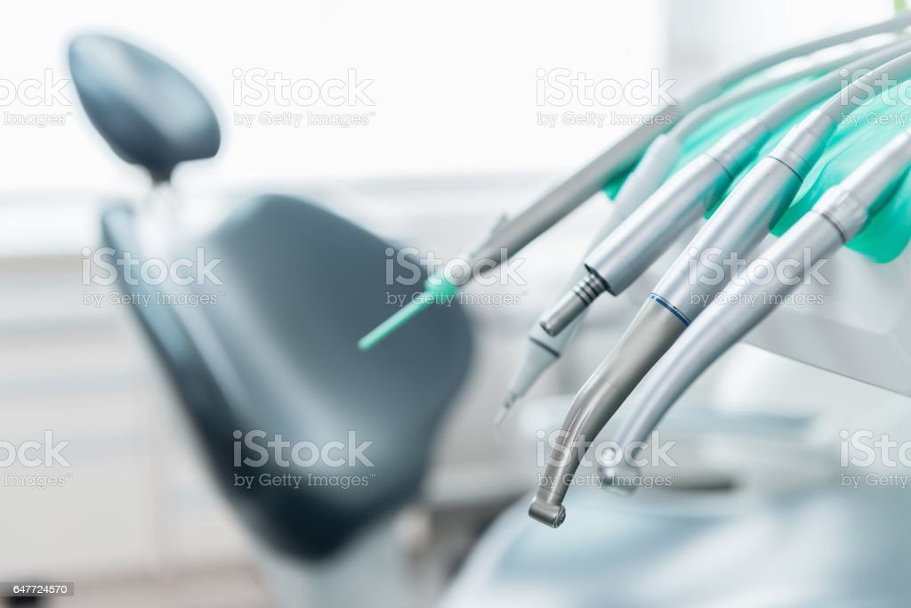 Dentist tools & equipment stock photo