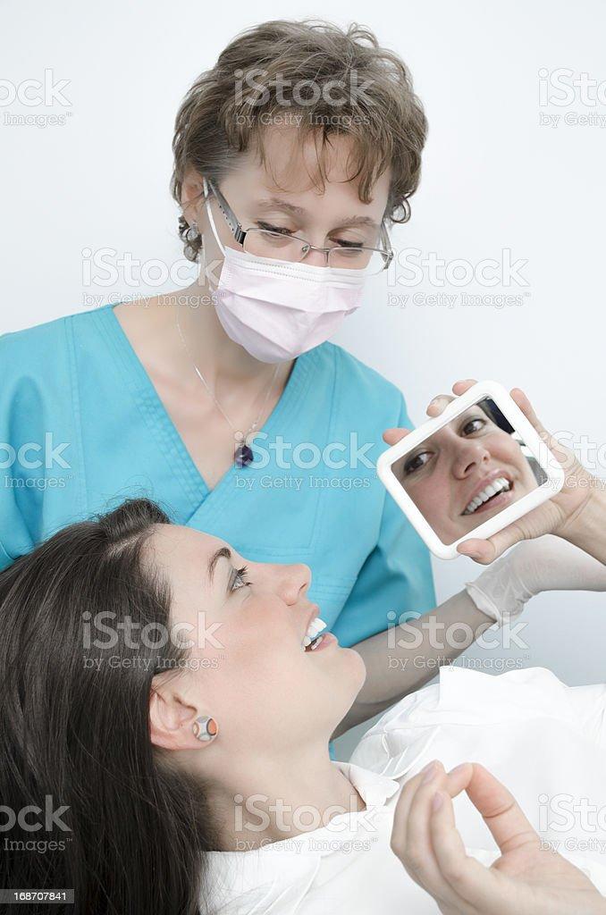 Dentist visit royalty-free stock photo