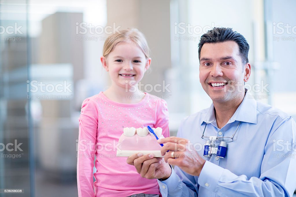Dentist with a Patient stock photo