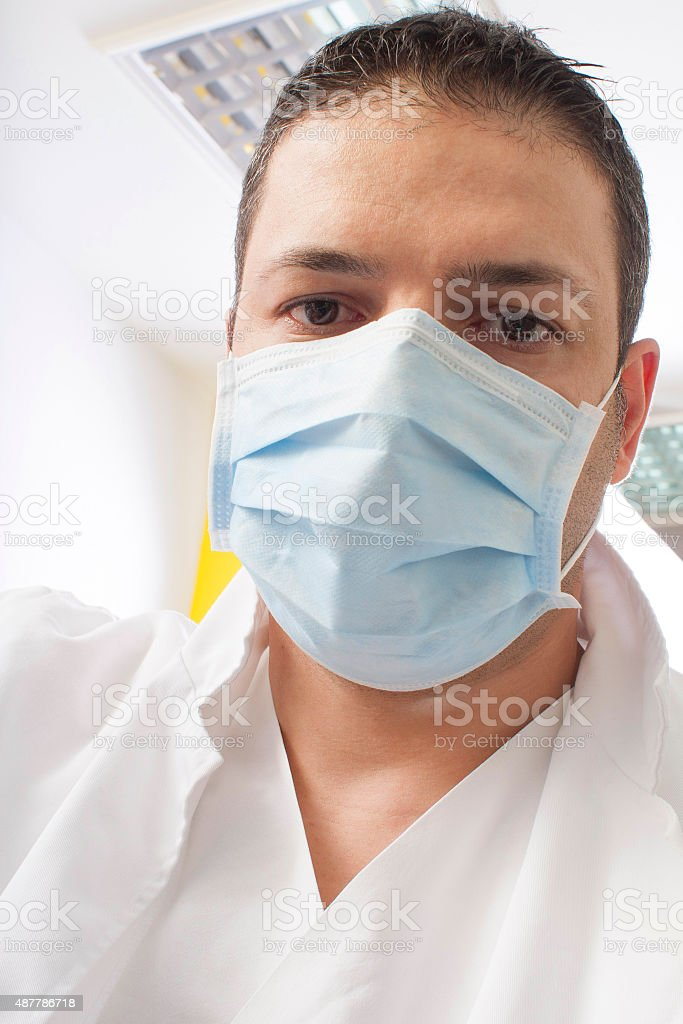 dentist with mask stock photo