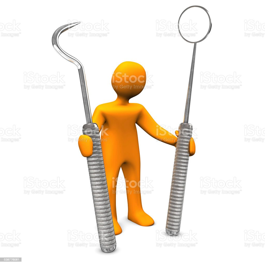 Dentist With Tools stock photo