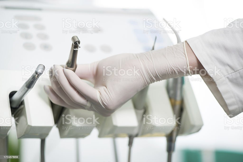 Dentist working royalty-free stock photo