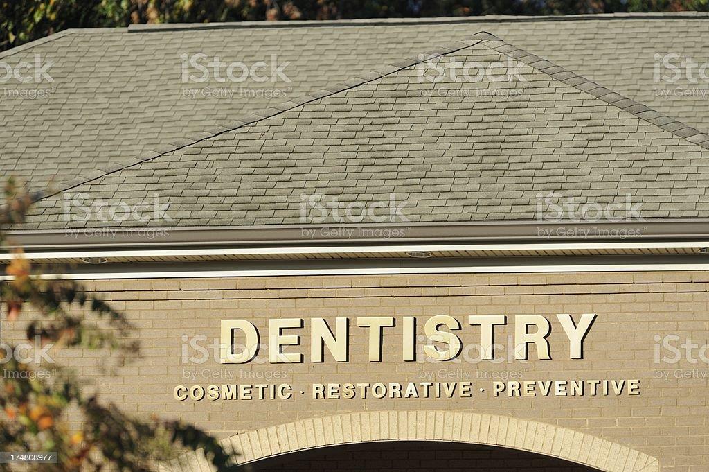 Dentistry cosmetic restorative preventive sign royalty-free stock photo