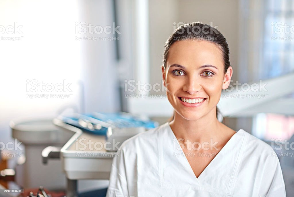 Dentistry is her passion stock photo