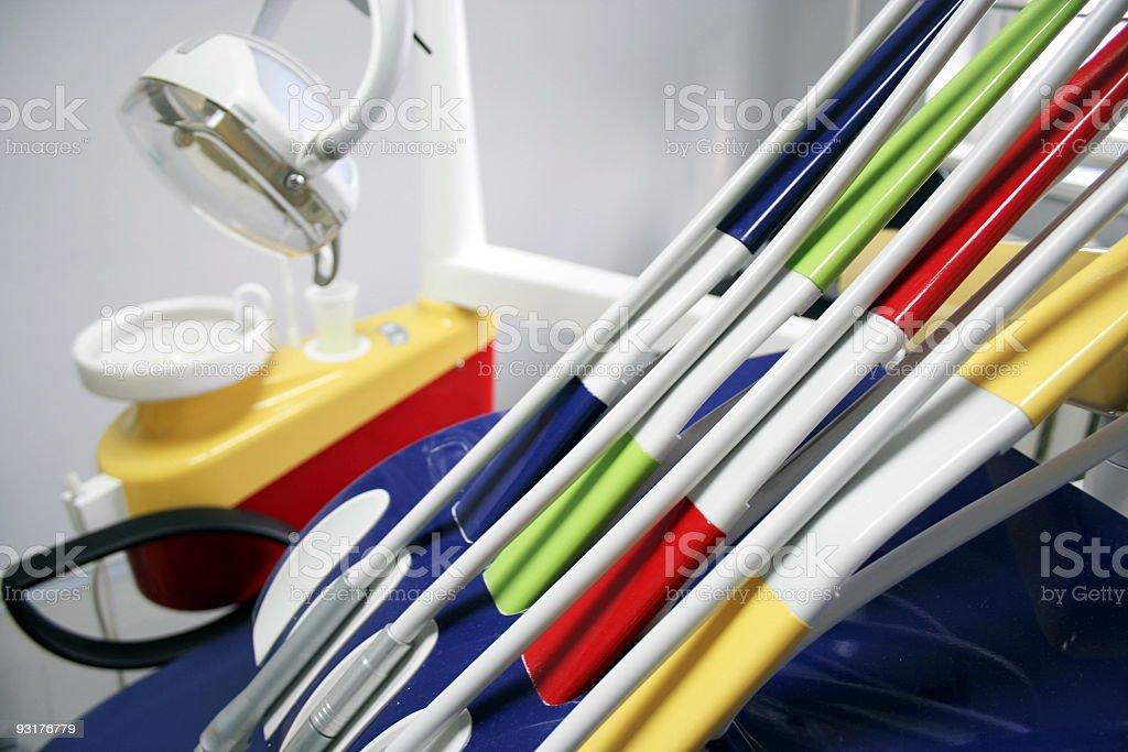 Dentist's tools royalty-free stock photo