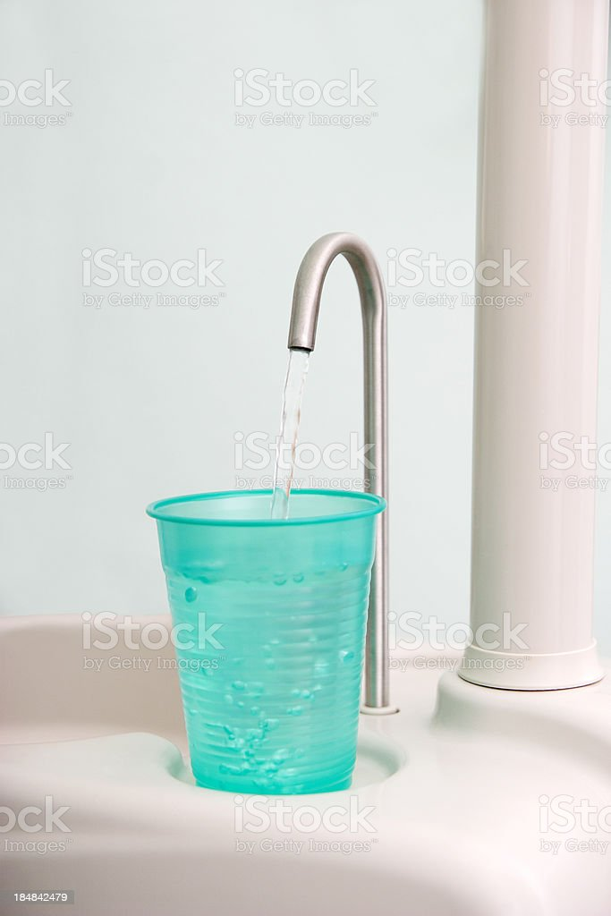 Dentist's Water Cup royalty-free stock photo